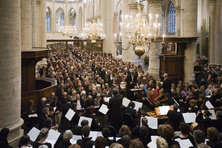 Uitvoering het Bachkoor Brabant in de Grote Kerk Breda