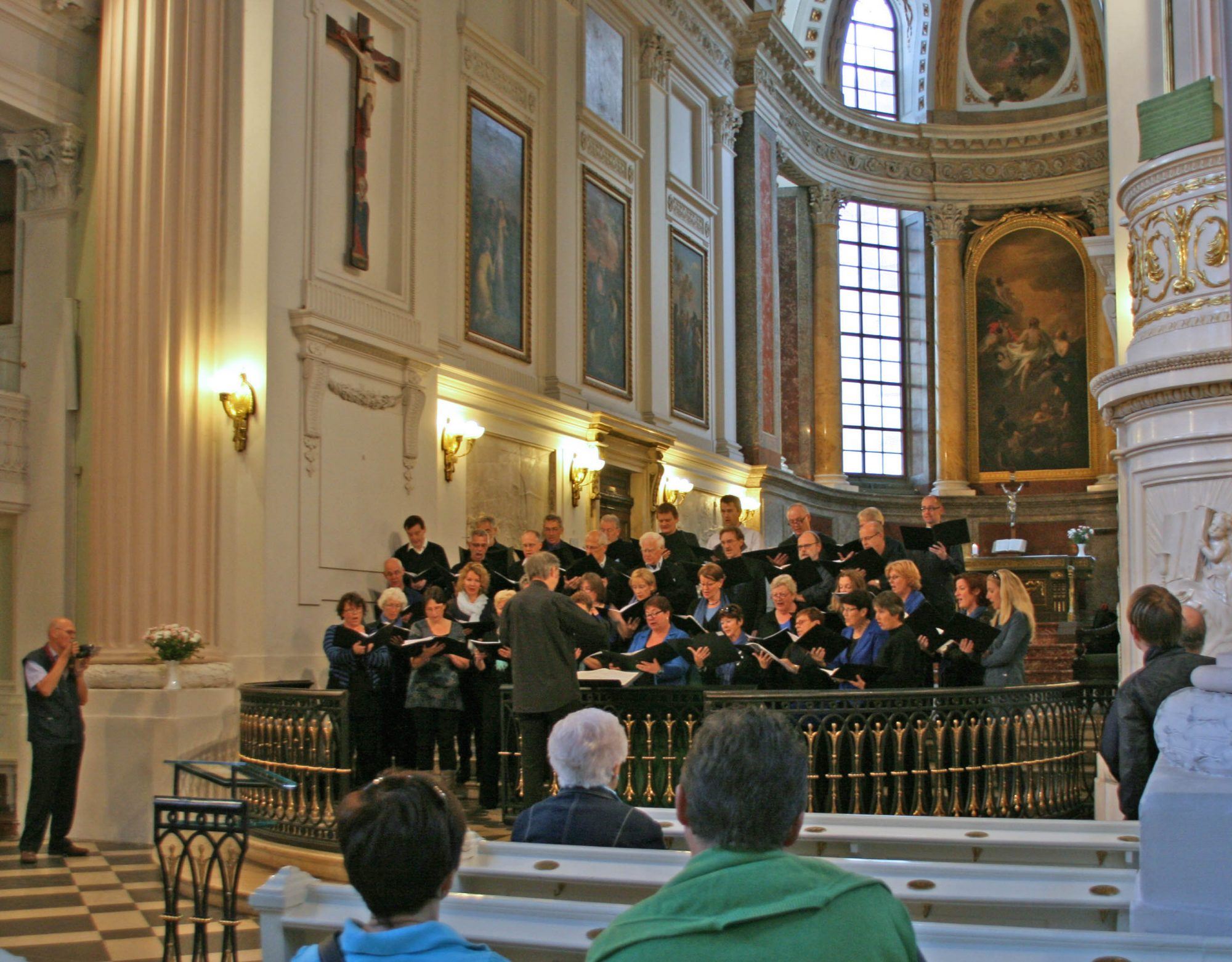 Optreden van het Bachkoor Brabant in de Nicolaikirche in Leipzig Bachreis oktober 2012