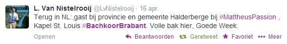 Het Bachkoor Brabant op Twitter