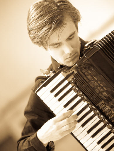 Accordeonist Vincent van Amsterdam