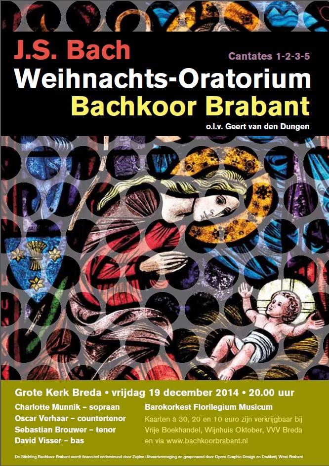 Weihnachts-Oratorium 19 december 2014 Bachkoor Brabant
