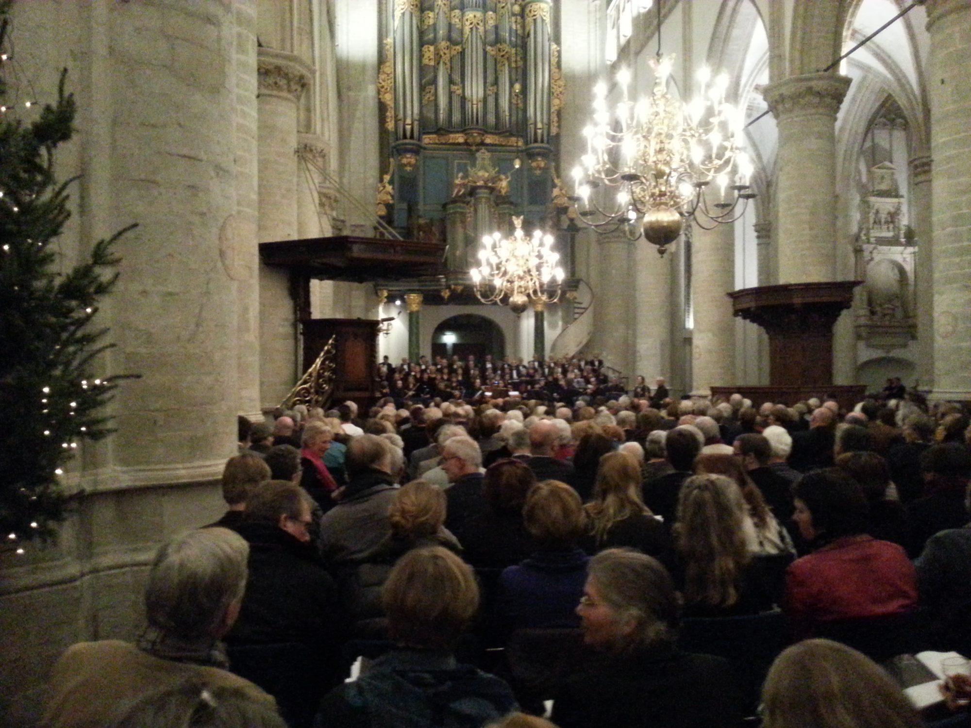 Het Weihnachts-Oratorium door het Bachkoor Brabant - uitvoering in de Grote Kerk december 2012