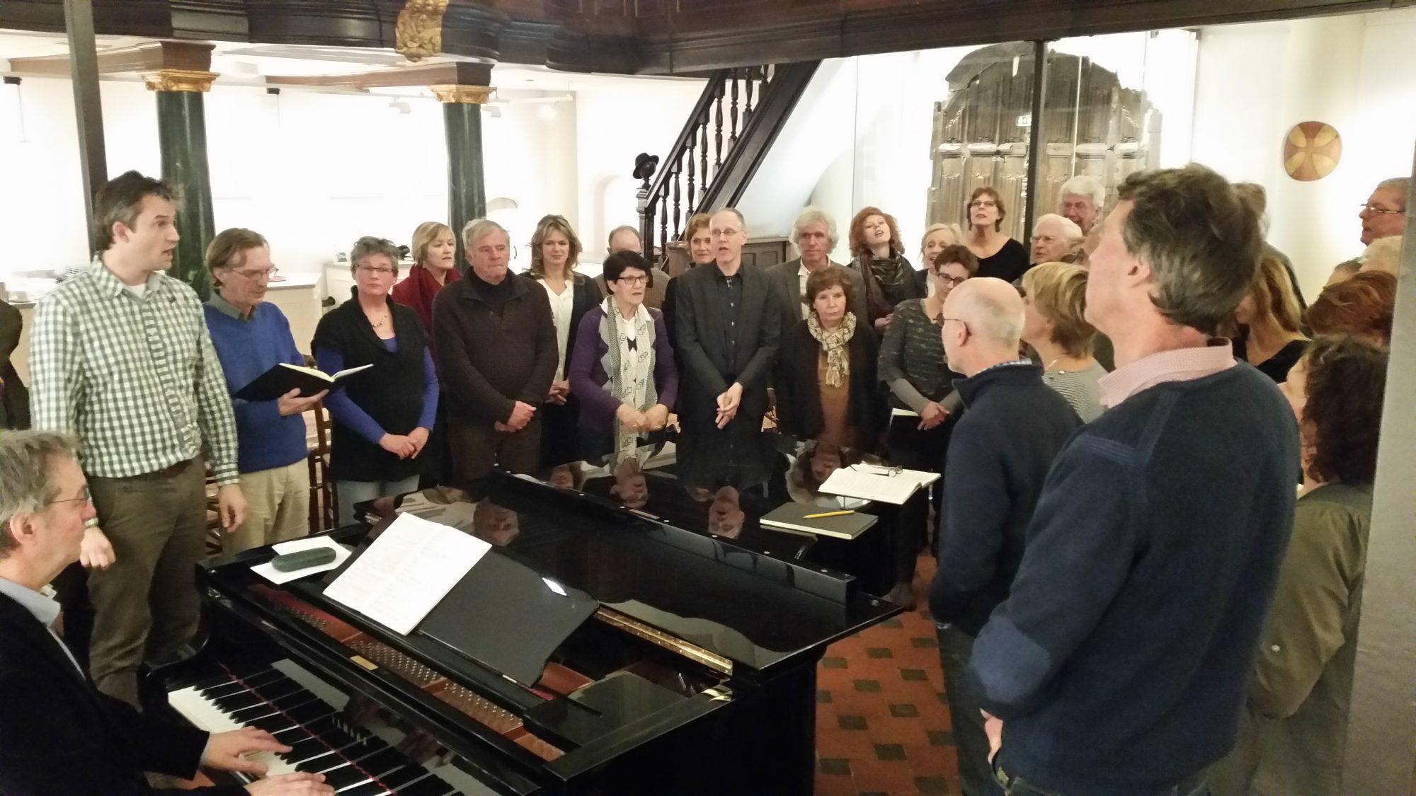 Repetitie semiscenische Johannes Passion door het Bachkoor Brabant