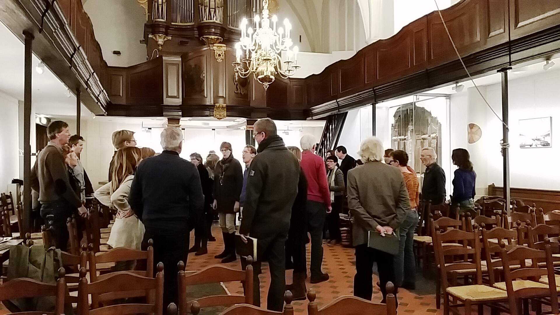 Repetitie Johannes Passion 21 januari 2015 in de Waalse Kerk