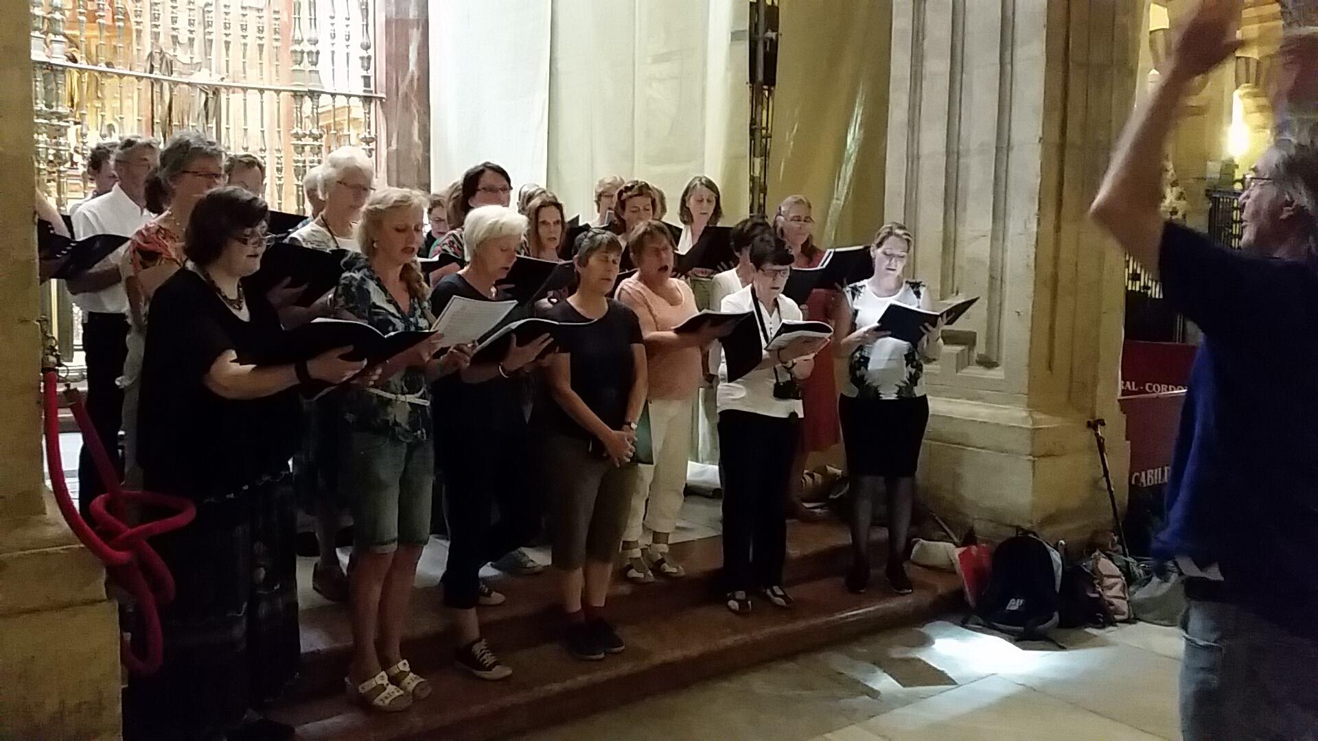 Bachkoor Brabant zingt in de Mezquita te Cordoba