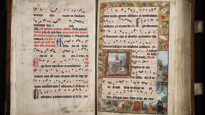 Gregoriaans gezang in oude handschriften