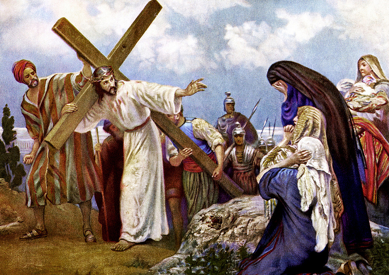 Jezus ontmoet zijn Moeder op weg naar de Calvarieberg