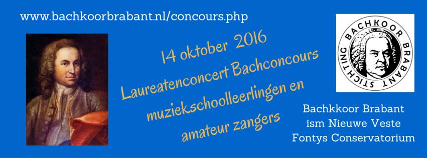 Bachconcoursvoor zangstudenten in Brabant