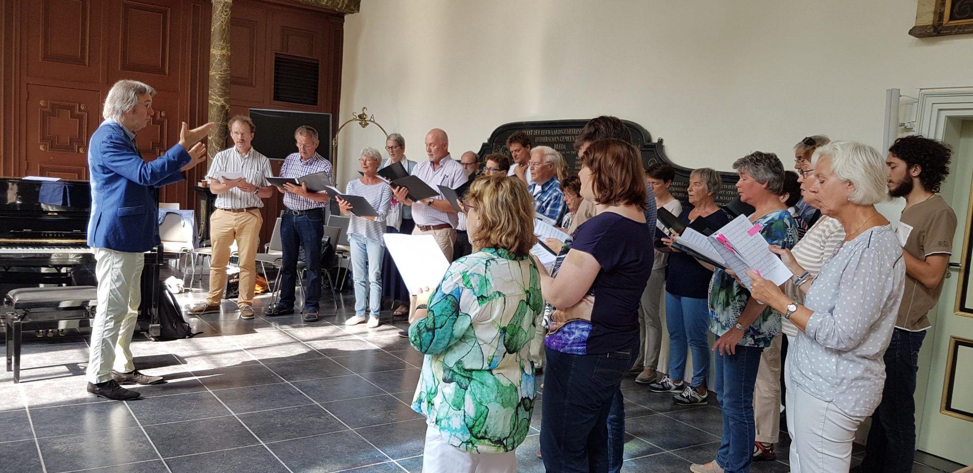 werkdag Bachkoor Brabant in de Lutherse Kerk