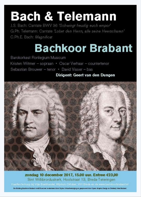 Poster Bach en Telemann door Opera Graphic Design