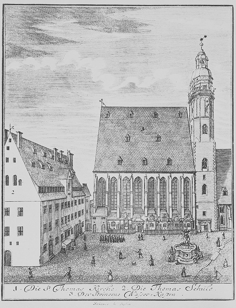 Thomaskirche en Thomasschool Leipzig